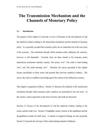 monetary transmission channel American economic association inside the black box: the credit channel of monetary policy transmission author(s): ben s bernanke and mark gertler.