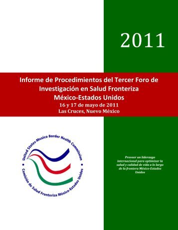 Informe de Procedimientos del Tercer Foro de Investigación en ...
