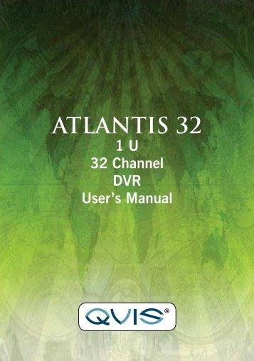 Atlantis 32 Channel Manual - Qvis Security