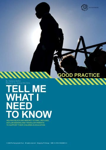 Tell Me What I Need to Know - Good Practice Guide
