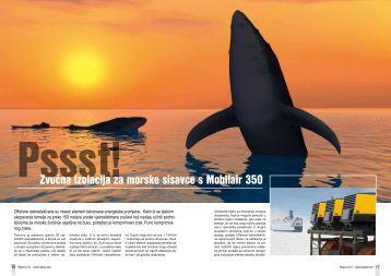 Pssst! Zvučna izolacija za morske sisavce s Mobilair 350