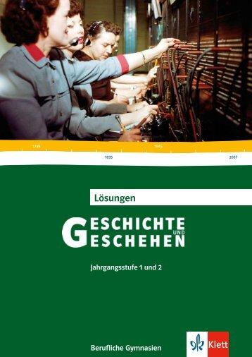 Lösungen - Ernst Klett Verlag