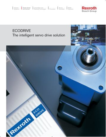 ECODRIVE The intelligent servo drive solution - Bosch Rexroth