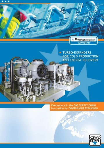 turbo-expanders for cold production and energy recovery - Cryostar
