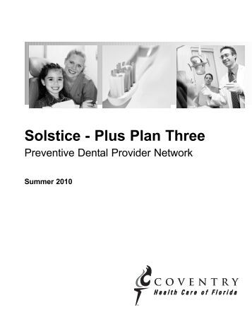 solstice plus plan three coventry health care of florida