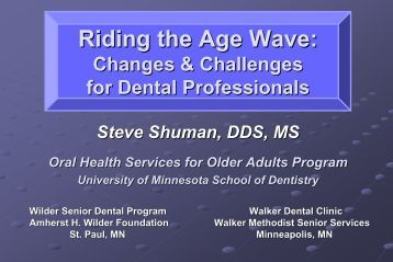Conference PPT (6 MB) - Institute for Oral Health