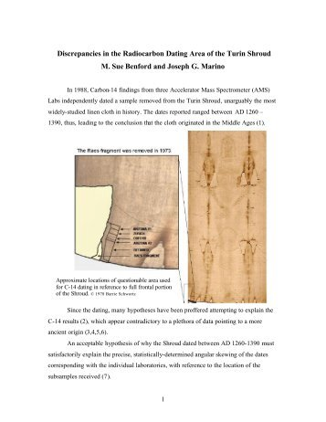 Radiocarbon dating of the shroud of turin pdf
