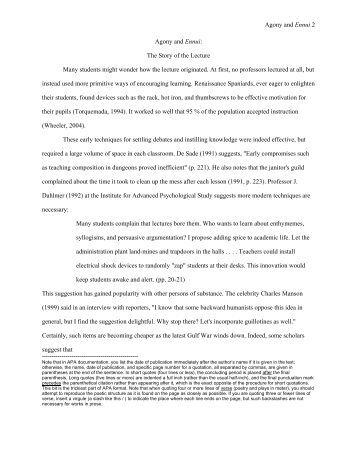 Best Photos of APA Literature Review Template APA Sample