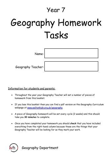 Year 7 homework help science