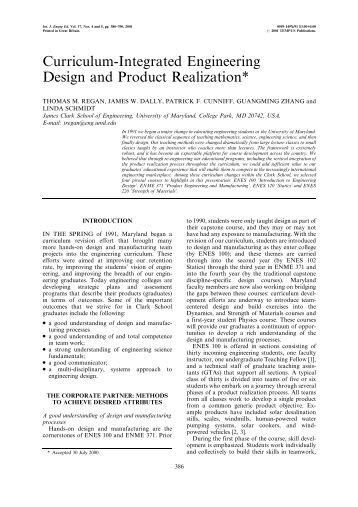 Engineering Design Curriculum : Realize your product promise techsoft engineering spol