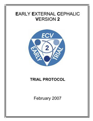 early external cephalic version trial - University of Toronto