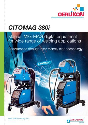 CITOMAG 380i - Oerlikon, the expert for industrial welding