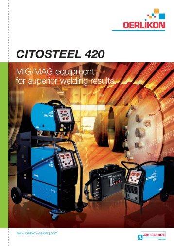 CITOSTEEL 420 - Oerlikon, the expert for industrial welding