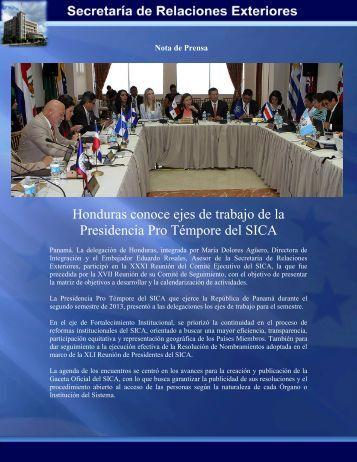 Honduras conoce ejes de trabajo de la Presidencia Pro Témpore ...