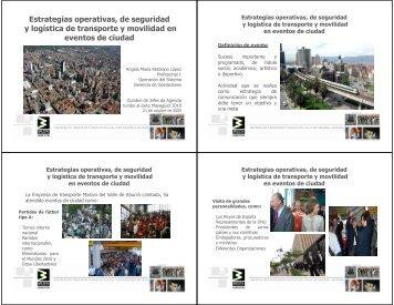 Estrategias operativas, de seguridad y logística de transporte y ...