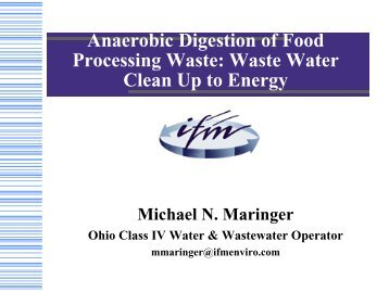 Anaerobic Digestion of Food Processing Waste - Midwest Clean ...