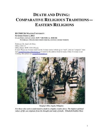 comparative analysis of death rituals Explore the nature of faith with comparative religion from birth to death—religious rituals comparative religions robert oden.