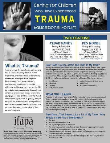 Trauma Educational Forum Flyer 2 - ifapa