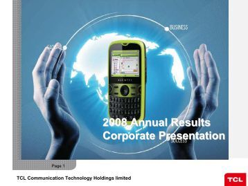 FY 2008 - TCL Communication Technology Holdings Limited