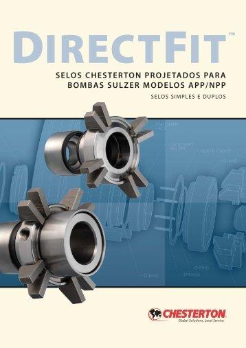 selos chesterton projetados para bombas sulzer modelos app/npp
