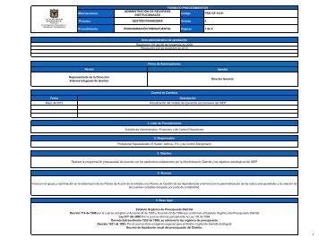 Programacion Presupuestal - IDEP