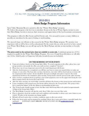 Aviation Merit Badge Program Student Information and Medical Form