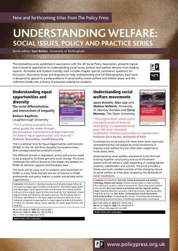 Understanding Welfare series flyer - Policy Press