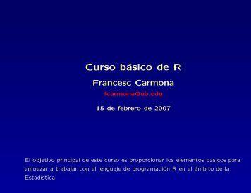 Curso básico de R