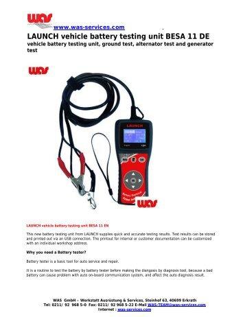 LAUNCH vehicle battery testing unit BESA 11 DE