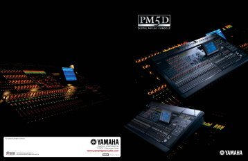 I important infor for Yamaha commercial audio