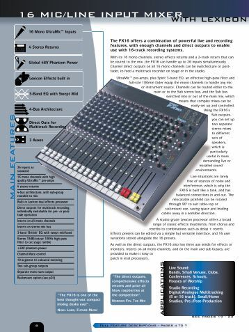 how to use a summing mixer