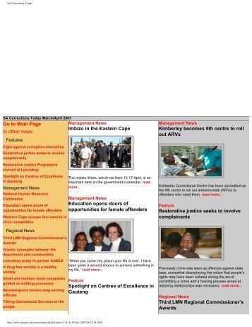 SA Corrections Today - DCS-Home