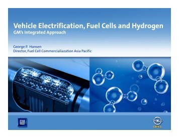 Vehicle Electrification Fuel Cells and Hydrogen Vehicle ...