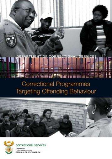 Correctional Programmes Targeting Offending Behaviour