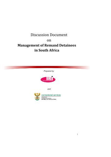 Management of Remand Detainees in South Africa - DCS-Home