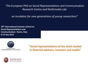Mass Psychology and Stock Market - European Doctorate on Social ...