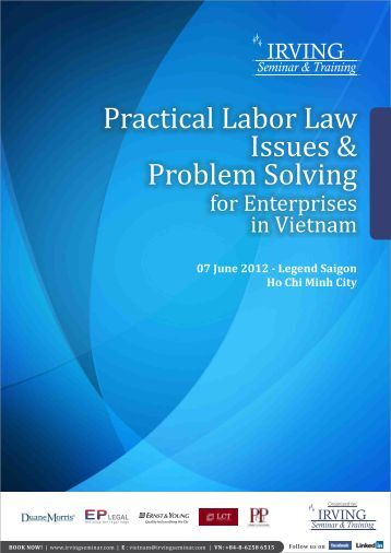 labor laws of vietnam essay The nike controversy by matt wilsey, scott lichtig  and establishing a pay scale that is fair and abides by vietnamese labor law (nike vietnam report, march 1997)  in april of 1997 the aip released two papers for reform, the workplace code of conduct and the principles of monitoring these documents were criticized on two fronts.