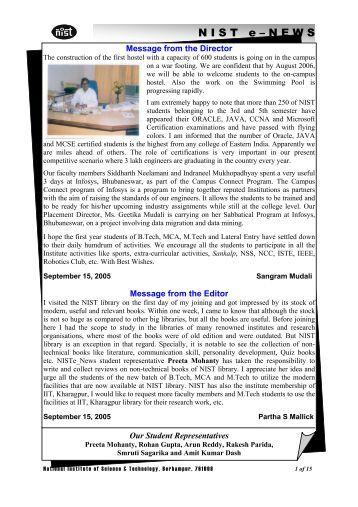 NIST e-NEWS(Vol 35, Sept 15, 2005)
