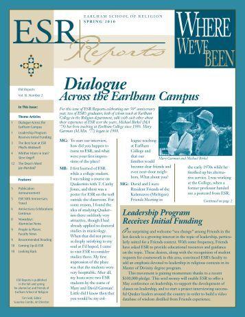 Spring - Earlham School of Religion - Earlham College