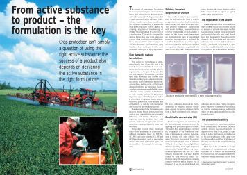 From active substance to product – the formulation is the key - Bayer ...