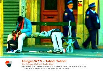 CologneOFF V – Taboo! - Downloads - NewMediaArtProjectNetwork