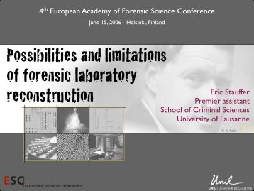 Possibilities and limitations of forensic laboratory reconstruction
