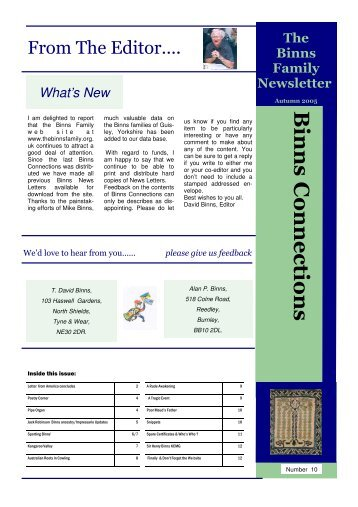 News Letter 10 Final.pub (Read-Only) - The Binns Family