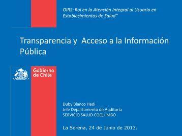 transparencia y acc.. - Servicio de Salud Coquimbo - Home