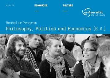 Philosophy, Politics and economics - Universität Witten/Herdecke
