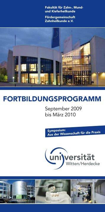 VDW.GOLD - Universität Witten/Herdecke