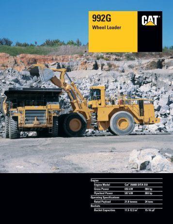 Specalog for 992G Wheel Loader, AEHQ5526-02
