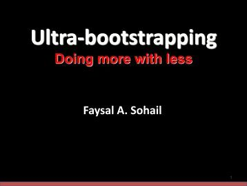 Ultra Bootstrapping