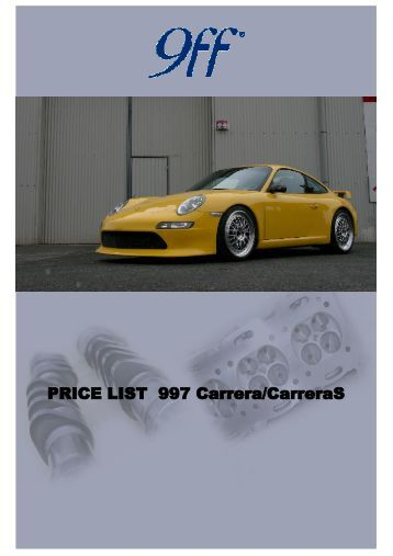 PRICE LIST 997 Carrera / CarreraS BRAKING SYSTEM II