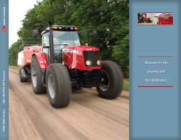Because it's the journey and the destination. - Agco Direct